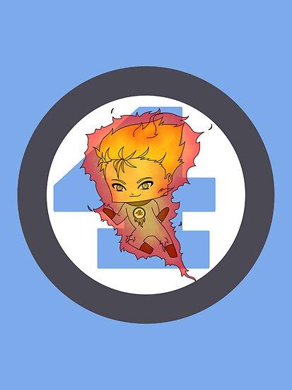 Chibi Human Torch by artwaste