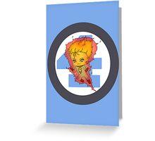 Chibi Human Torch Greeting Card