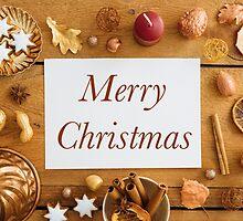 Christmas decoration on wood by Elisabeth Coelfen