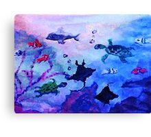 What is under the sea today, watercolor Canvas Print