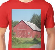 Nice Rustic Red Barn  Unisex T-Shirt