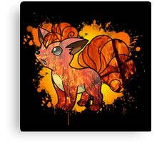 Vulpix - With Background Canvas Print