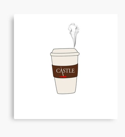 Castle coffee Canvas Print
