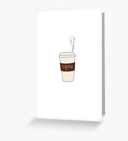 Castle coffee Greeting Card