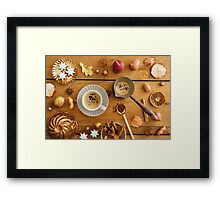 Christmas decoration on wood Framed Print