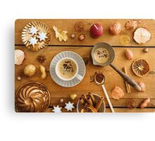 Christmas decoration on wood Canvas Print