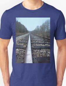 Steel Train Tracks Through the Appalachian Mountains T-Shirt
