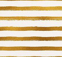 Gold Foil Stripes Pattern by Iveta Angelova