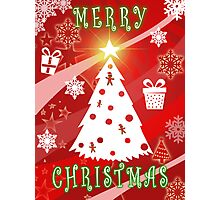 Merry Christmas from Gingerbread Graphics Photographic Print