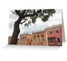The historic centro de Cuitadella Greeting Card