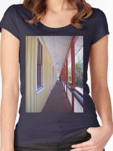 Retro Old Walkway in West Virginia Women's Fitted Scoop T-Shirt