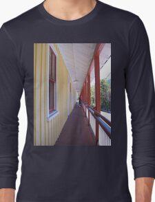 Retro Old Walkway in West Virginia Long Sleeve T-Shirt