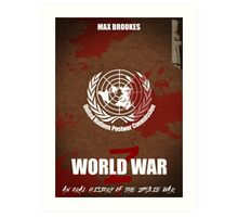 World War Z Cover Art Print