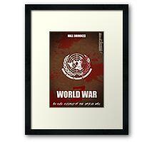 World War Z Cover Framed Print