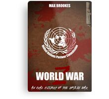 World War Z Cover Metal Print