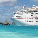 """Carnival Ecstasy"" getting a little help from ""Snapper"" in Nassau Harbour, The Bahamas by 242Digital"
