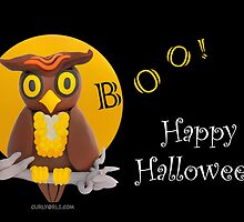 Boo! Happy Owl-o-ween! by curlyorli
