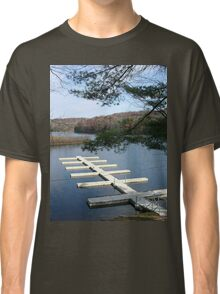 Empty Boat Docks on Lake Stevens in West Virginia Classic T-Shirt