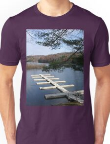 Empty Boat Docks on Lake Stevens in West Virginia Unisex T-Shirt