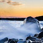 Waves Splash by John Davenport