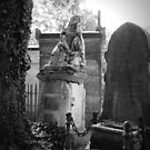 Haunting Scene from the Cimetiere Pere-Lachaise by kkmarais