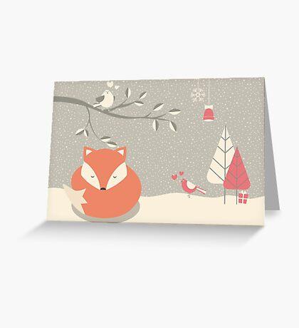 Christmas baby fox 06 Greeting Card