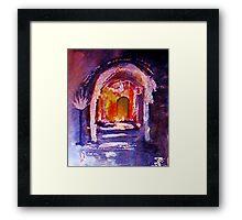 The inner sanctum, watercolor Framed Print