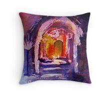 The inner sanctum, watercolor Throw Pillow