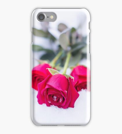 rose in the snow iPhone Case/Skin