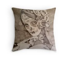 A Portrait Of Ms Gray ( Work In Progress ) Throw Pillow