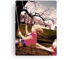 swinging Canvas Print