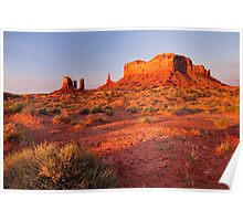 First light at Monument Valley, USA Poster