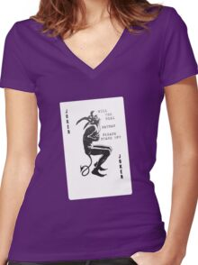 Please stand up? Women's Fitted V-Neck T-Shirt
