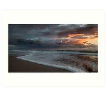 Stormy Morning on Dreamtime Beach Kingscliff Art Print