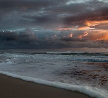 Stormy Morning on Dreamtime Beach Kingscliff by Ron Finkel