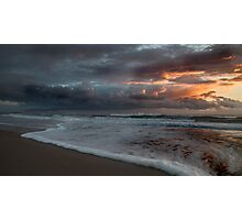 Stormy Morning on Dreamtime Beach Kingscliff Photographic Print