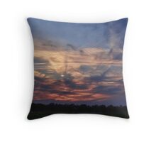 Road Rage in the Sky Throw Pillow