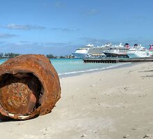 A gift from Hurricane Sandy on Junkanoo Beach in Nassau, The Bahamas by 242Digital