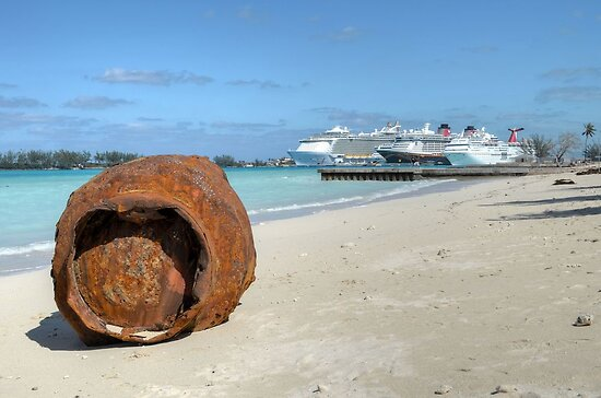 A gift from Hurricane Sandy on Junkanoo Beach in Nassau, The Bahamas by Jeremy Lavender Photography