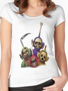 teletubbies Women's Fitted Scoop T-Shirt