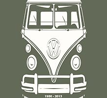 VW BUS, 1950-2013  by Kirk Shelton