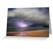 Moonlight storm at Lennox Head, NSW Greeting Card