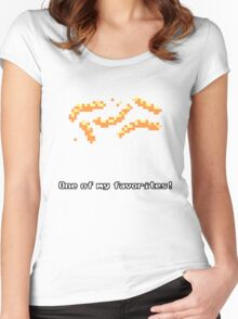 Monkey Island - Cheese squigglies Women's Fitted Scoop T-Shirt