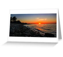 Sunset at Petoskey Greeting Card