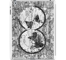 world map black and white 3 iPad Case/Skin