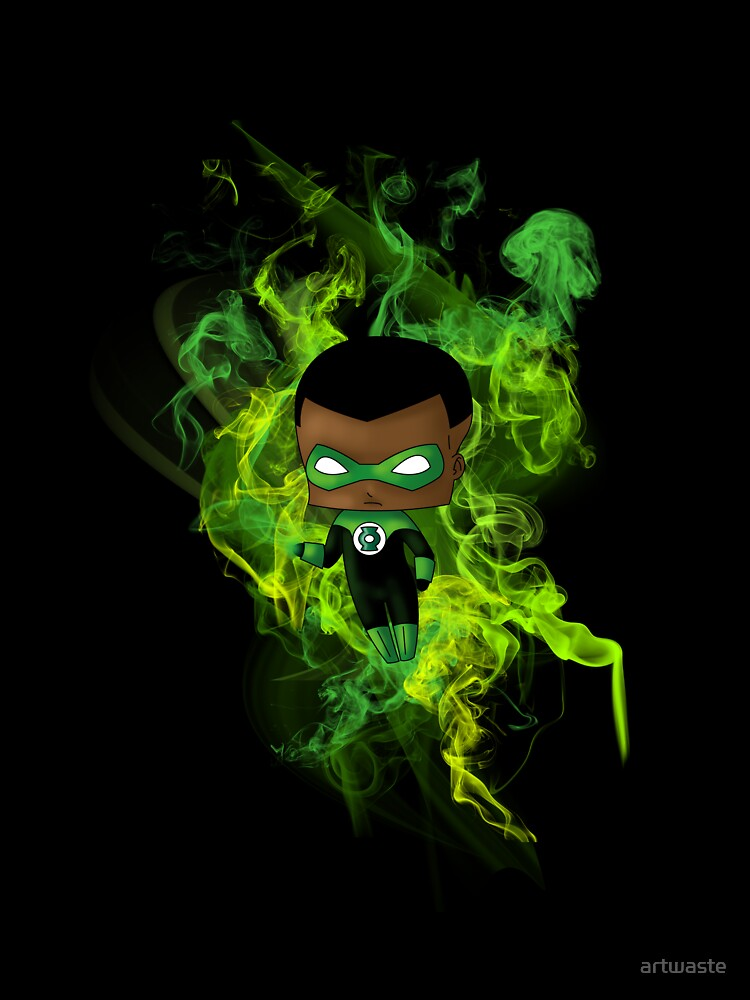 Chibi Green Lantern by artwaste