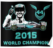 Lewis Hamilton, 2015 Formula 1 F1 drivers World Champion Poster