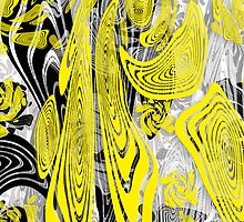 Yellow Morphed Swirls by TinaGraphics
