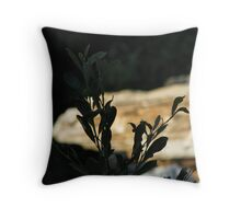 Black Leaves at Bear Creek Throw Pillow
