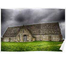 13th-century stone barn Poster